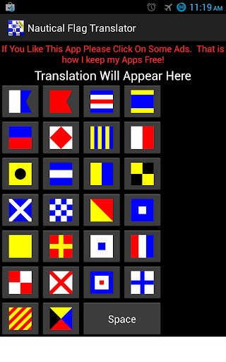ICS Nautical Flag Translator