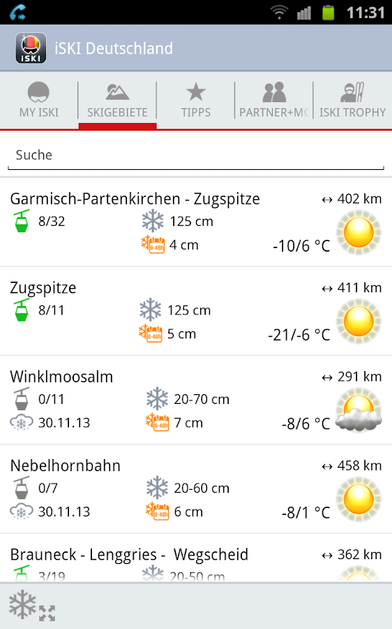 iSKI Deutschland - screenshot