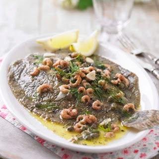 Flounder With Brown Shrimp, Dill And Capers