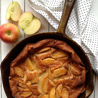 Caramel Apple and Irish Whiskey Clafoutis