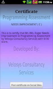 Programming Assessment(Pro) - screenshot thumbnail