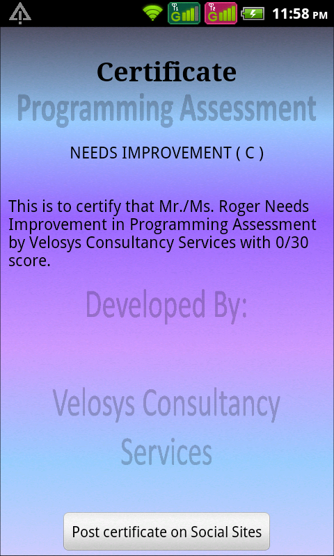 Programming Assessment(Pro) - screenshot