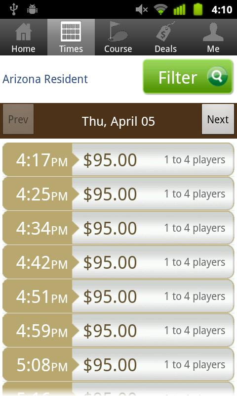 Eagle Mountain Golf Tee Times - screenshot