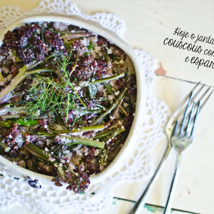 Couscous, Broccoli, and Asparagus Salad