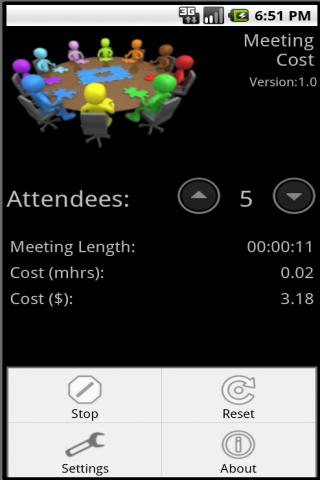 Meeting Cost - screenshot