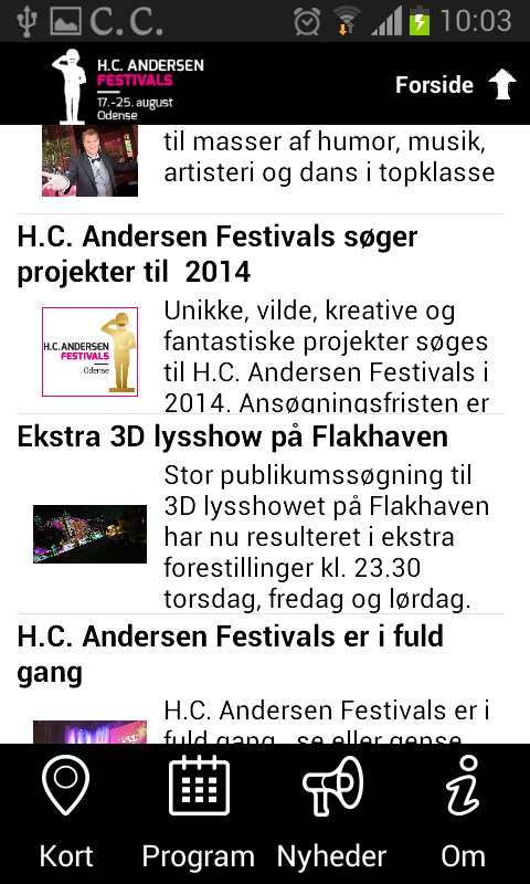 H.C. Andersen Festivals 2014 - screenshot