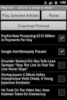 Screenshot of PlayText - Podcaster