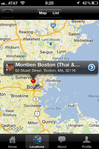 Montien Boston (Thai & Sushi) - screenshot