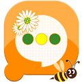 Free Easy SMS Honey Daisy theme APK for Windows 8