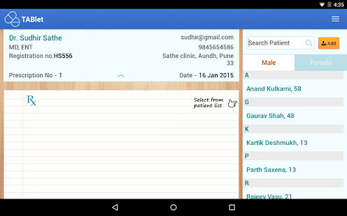 TABlet Prescription App- screenshot thumbnail