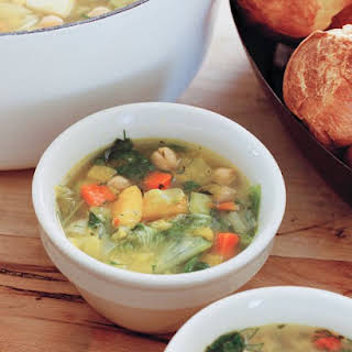 Hearty Winter-Vegetable Soup.