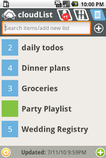 cloudListPro to-do list - screenshot thumbnail
