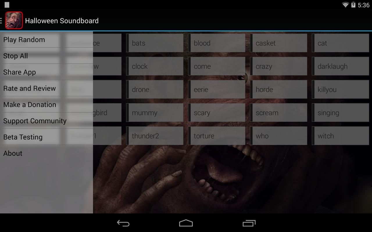 Halloween Soundboard - screenshot
