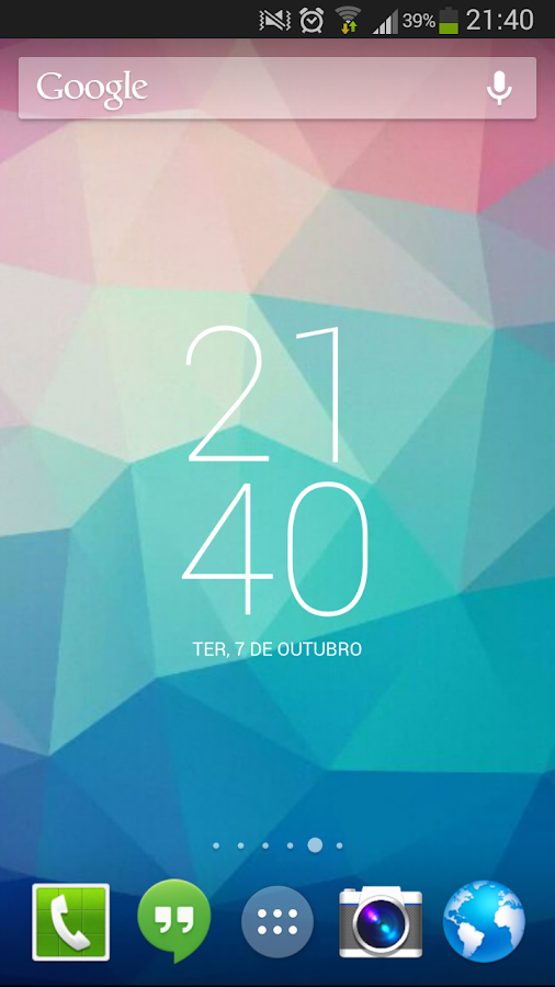 Roboto Clock Widget - screenshot
