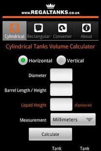 Tank Volume Calculator Free Android App Market