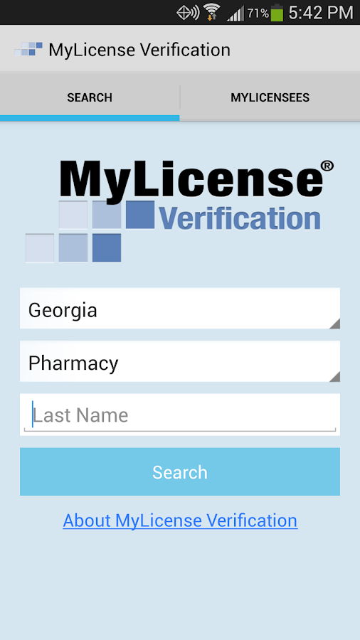 MyLicense Verification- screenshot