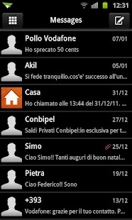 GO SMS Deep Black Theme - screenshot thumbnail
