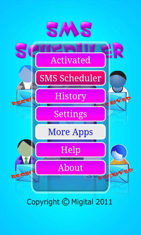 SMS Scheduler - screenshot