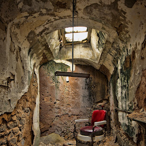 The Chair by Carl Chalupa - Buildings & Architecture Decaying & Abandoned ( eastern state, abandoned prison, prison, the chair,  )