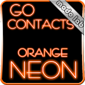 Orange Neon GO contacts theme