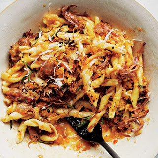 Strozzapreti with Oxtail Ragù and Horseradish Crumbs