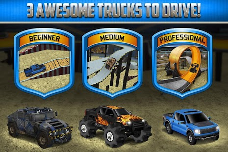 3D Monster Truck Parking Game Screenshot
