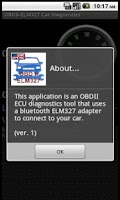 Screenshot of OBD2-ELM327. Car Diagnostics