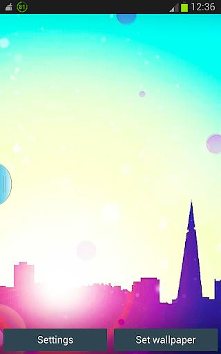 Sun City HD Bokeh Wallpaper