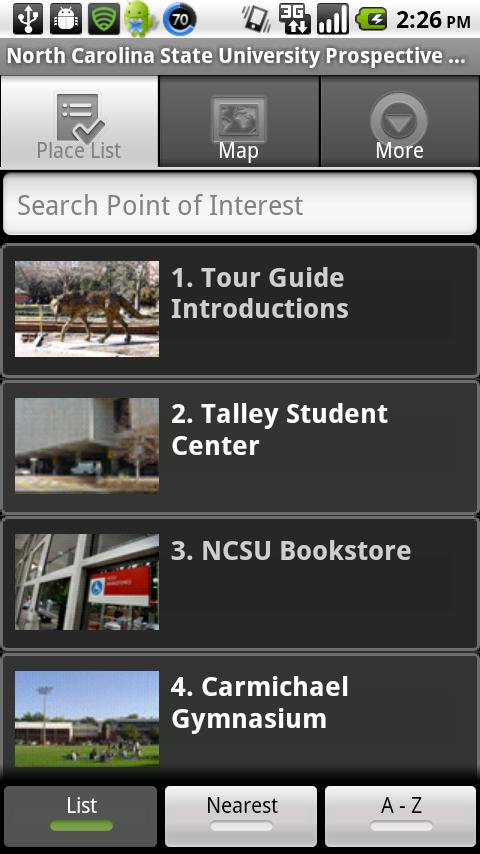 NC State University Tour - screenshot