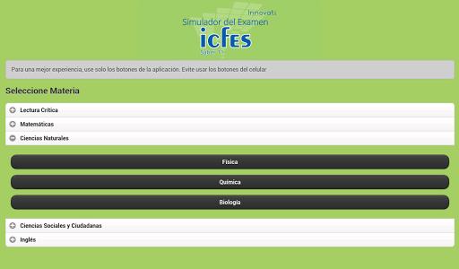 Simulador Examen ICFES 2.1.1 screenshots 11