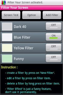 Filter Your Screen  - Free! - screenshot thumbnail