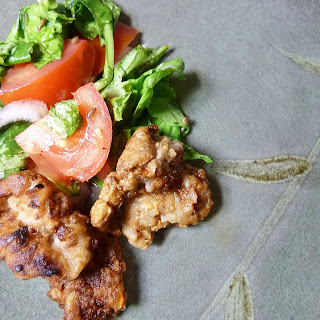 Everything Middle-eastern seasoned fried alligator
