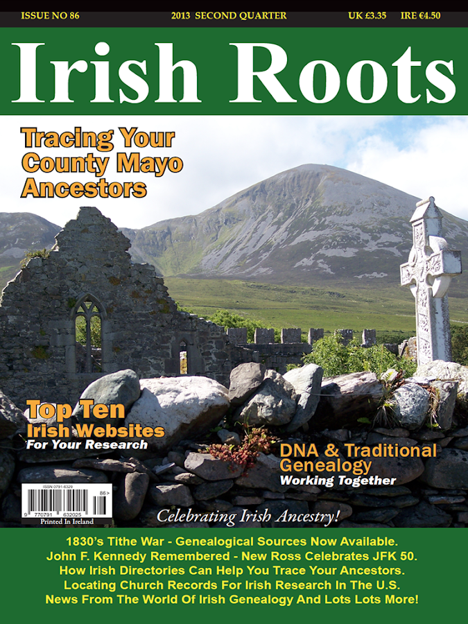 Irish Roots Magazine- screenshot
