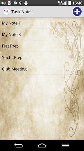 Task Notes