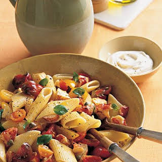 Pasta with Marinated Tomatoes and Lobster.