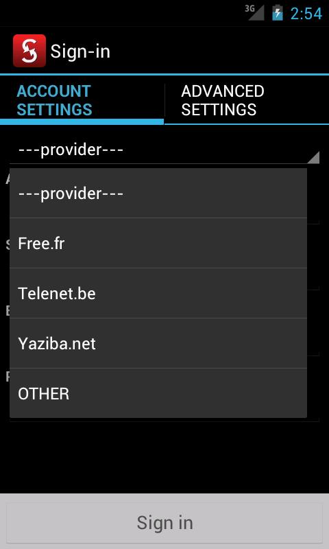 LVSync para Zimbra ~rw: captura de pantalla