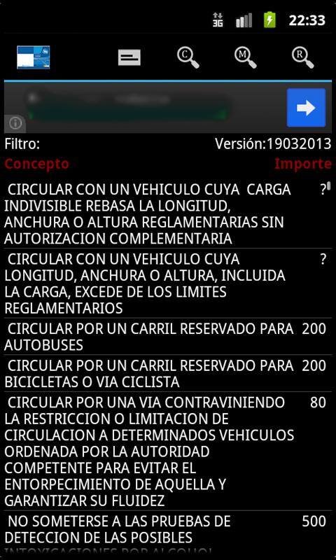 Codificado DGT - screenshot