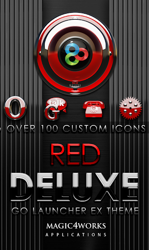 GO Launcher Theme Red Deluxe