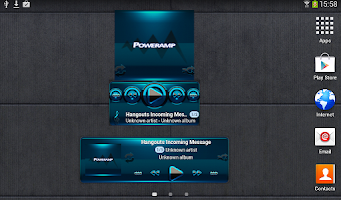 Screenshot of Poweramp widget BLACK L. Blue