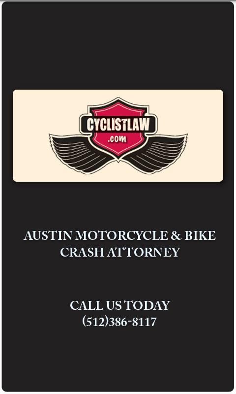 Cyclistlaw Crash App - screenshot