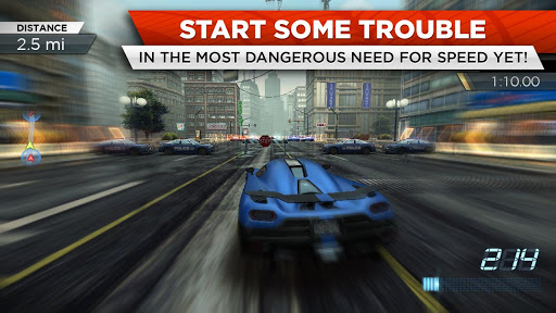 Need for Speed Most Wanted game for Android screenshot