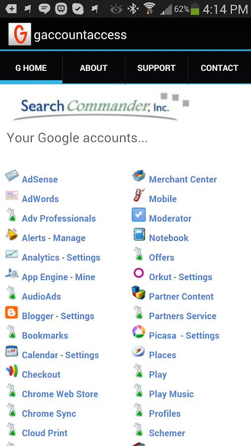 Google Account Access - screenshot