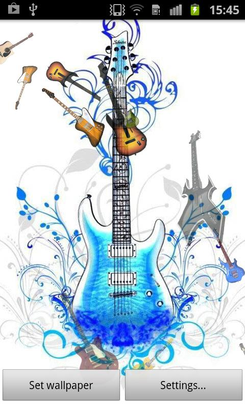 Guitar Live Wallpaper - screenshot