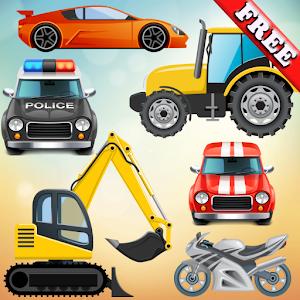 грузовик, автомобили и малыши