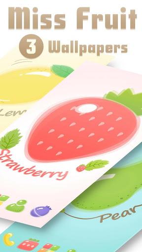 Miss Fruit GO Launcher Theme