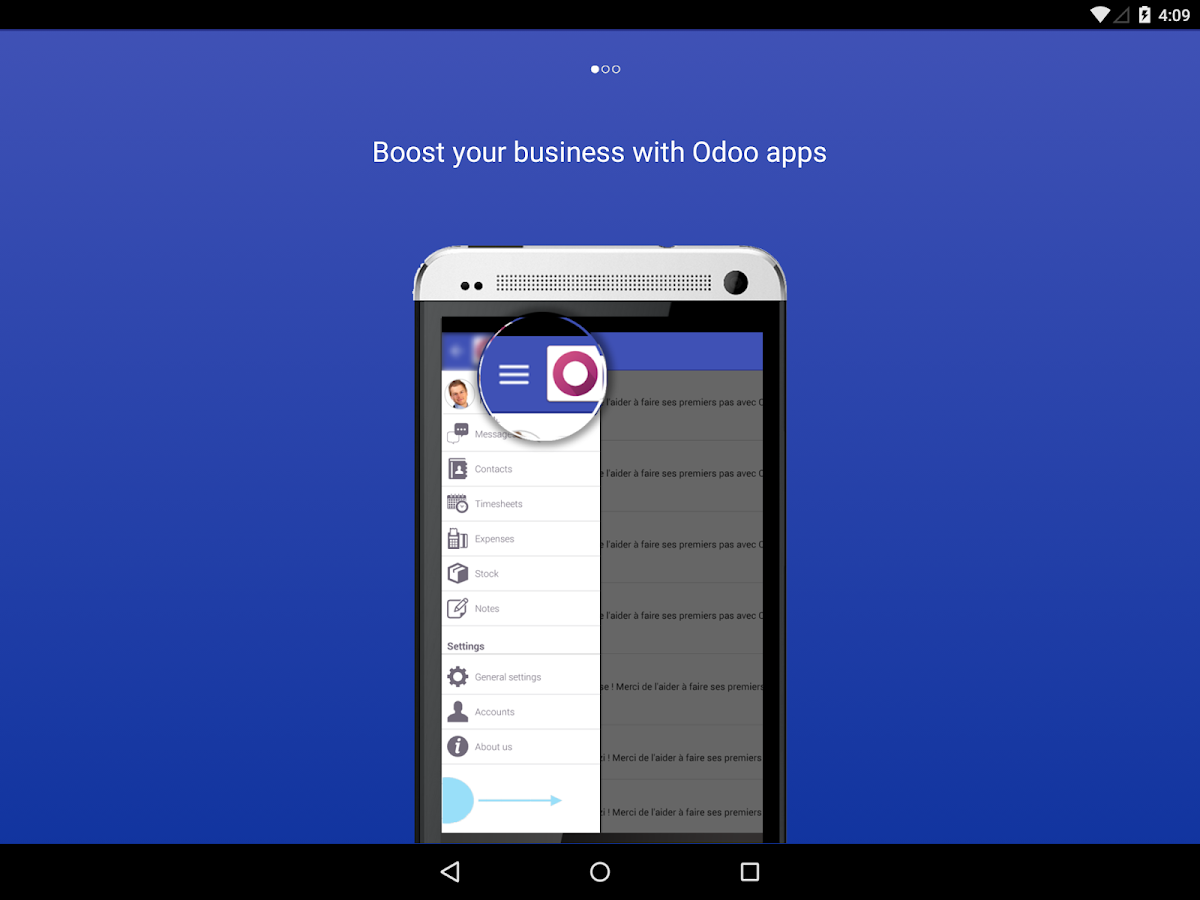 Odoo Mobile- screenshot