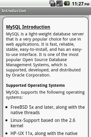 MySQL Pro Quick Guide - screenshot