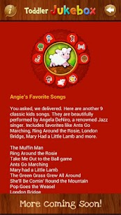 Toddler Music Jukebox:12 songs- screenshot thumbnail