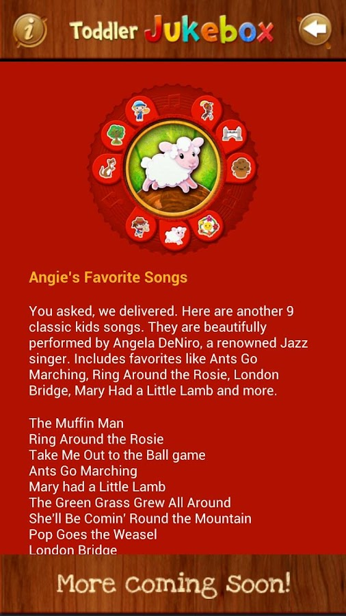 Toddler Music Jukebox:12 songs- screenshot