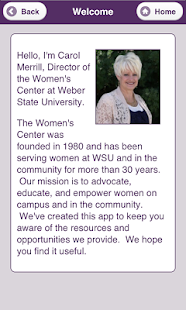 WSU Women's Center - screenshot thumbnail